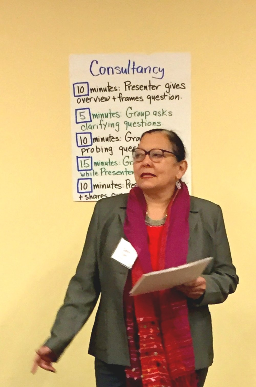 Carmen Torres at the PSI Capstone Consultancy Day, Jana