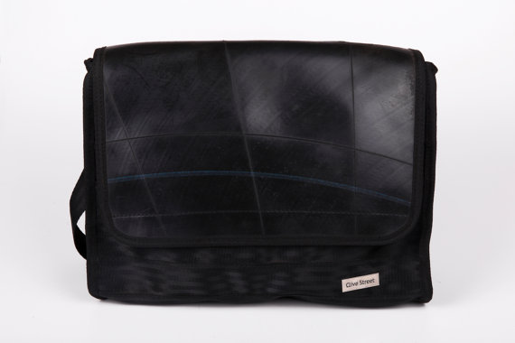 UPCYCLED BAG MADE OF SEATBEALTS AND TYRE - Handmade in Brisbane - $130