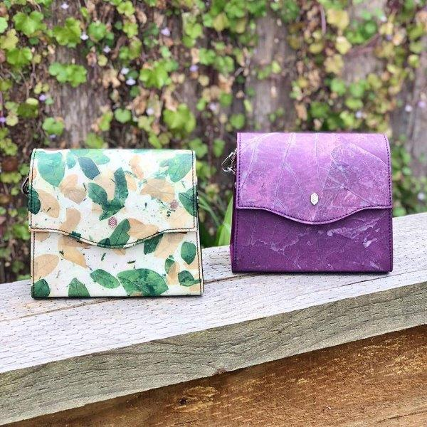 Featured leaf handbags -