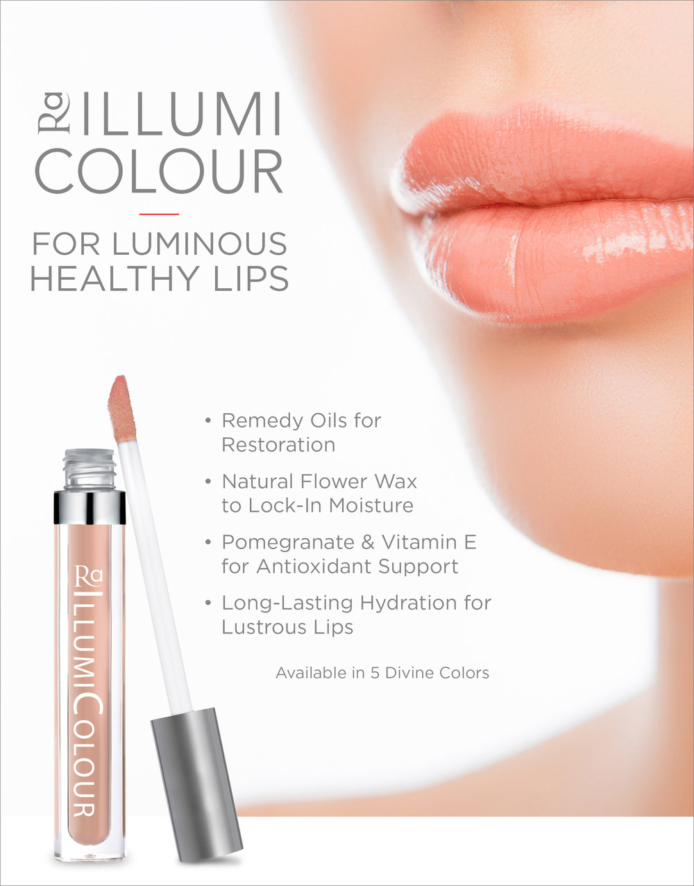 Introducing IllumiColour Lip Gloss! - available in 5 shades!Now not only will you have glowing skin, you'll have hydrated plump and pretty lips to match! New at Spa Lux - IllumiColour Lip Gloss!!Jump over to our Facebook page to like, share and join the contest to win one of the 5 NEW beautiful lip gloss colors.
