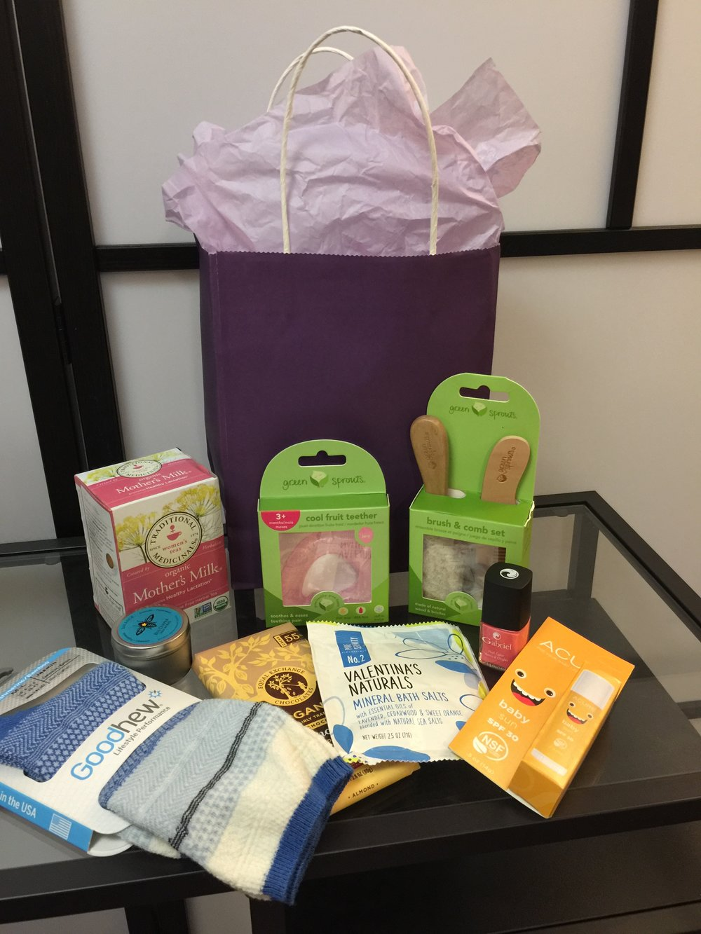 Gift bags are a great add-on amenity. W work to source local and organic products that nursing mom's will truly be delighted by.  Please inquire about pricing to include gift bags with your event.