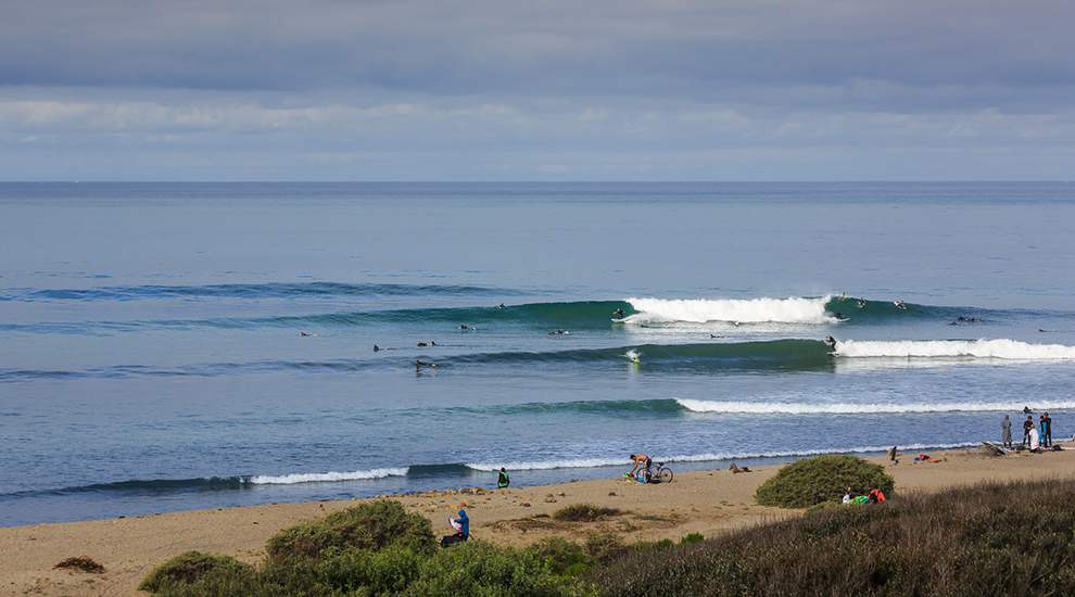 Surfing at Carpinteria State Beach, (surfline.com photo)