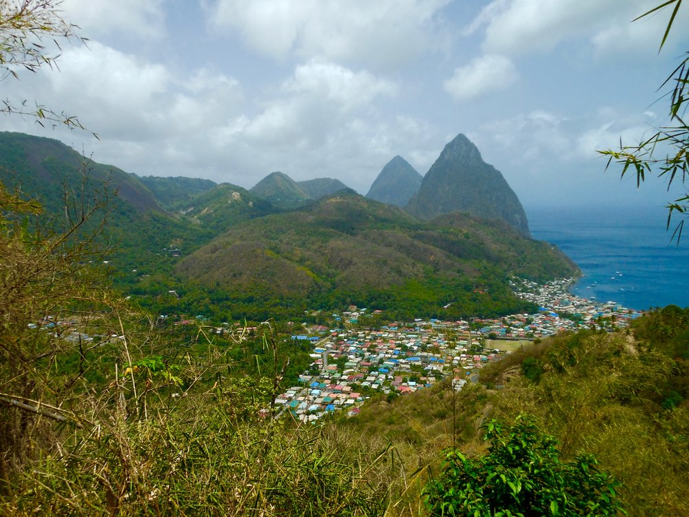 The Pitons- Soufriere, St. Lucia.