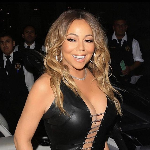 MIss @mariahcarey last night for her label party! Hair by @tigerbahmb  Makeup by @etienneortega