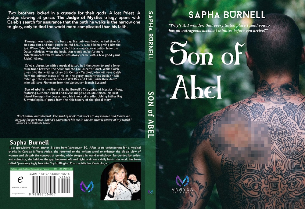 Son of Abel 's cover art was designed by  Marissa Wagner , with photography from  Felix Russell-Saw . I'm in love.