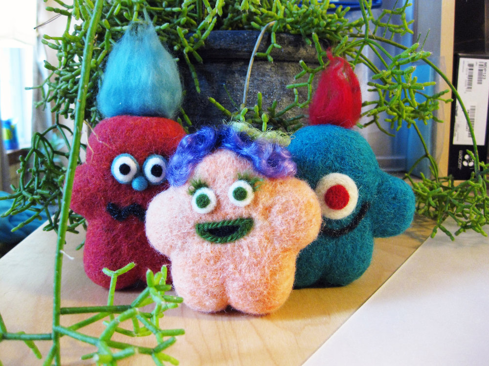 Needle felted monsters! (These were goodie bags for my son's birthday almost a year ago)