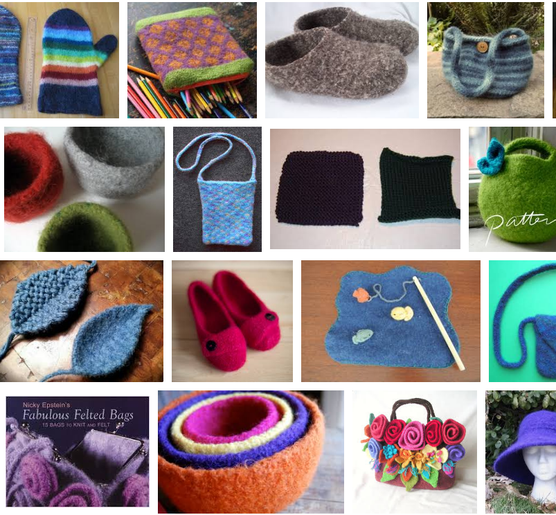 Google image search of felted knits.