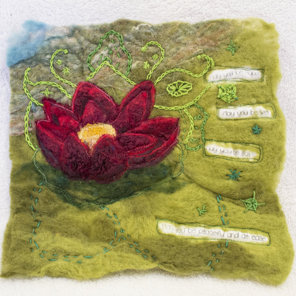 red lotus felt journaling