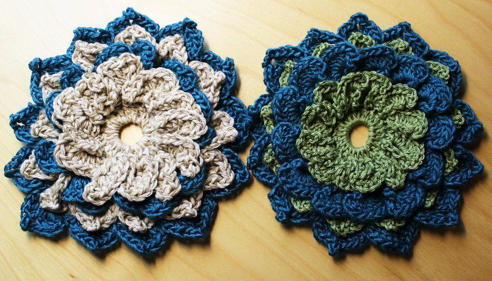 crochet flowers star magnolias