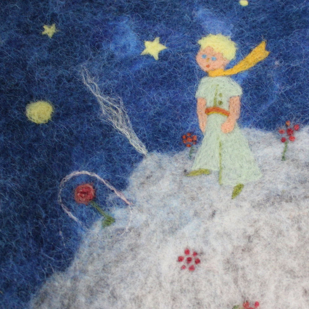 little prince felt planner cover - star magnolias