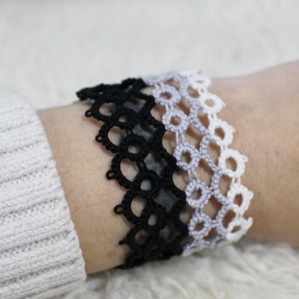 tatted bracelet - star magnolias