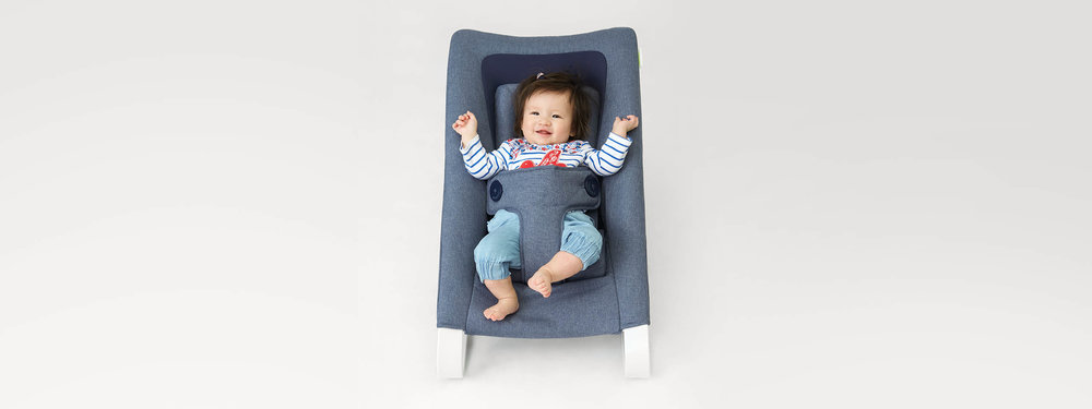 Bombol Bamboo baby bouncer newborn kit NBK with kid.jpg