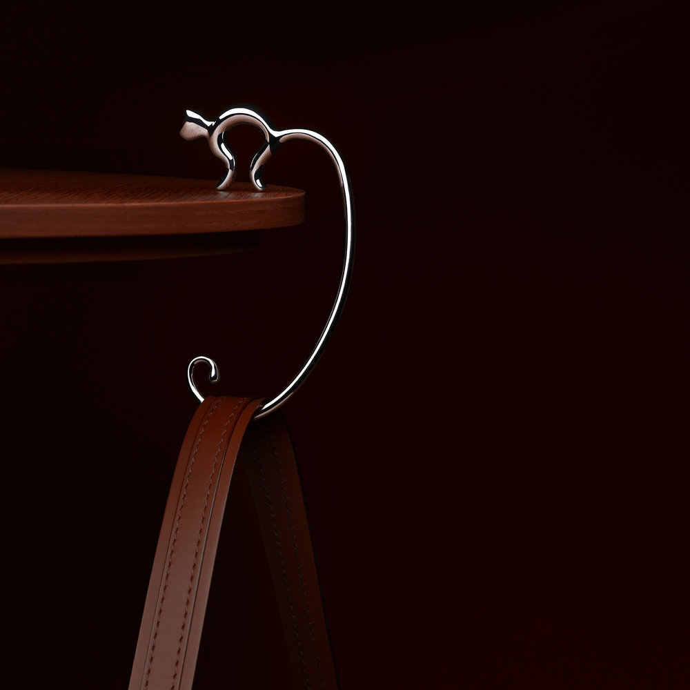 Minou, the bag hook for Alessi