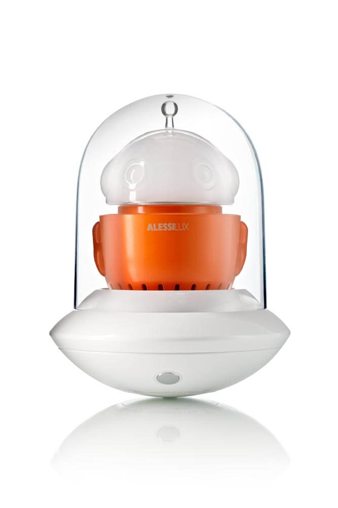 UFO, portable LED lamp for AlessiLux orangee