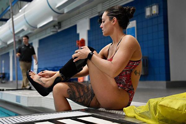 ELIZABETH MARKS<BR>Military service member<BR>Paralympic Swimmer