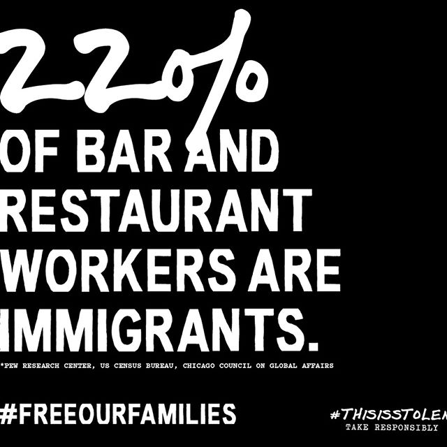 Immigrants are a vital part of our industry family. We look out for one another.  We're raising money for @raicestexas, a non-profit working to help reunite immigrant families separated at the border. For more info and to donate, visit: www.thisisstolen.com/reunite-families  #thisisstolen #drinkforgood