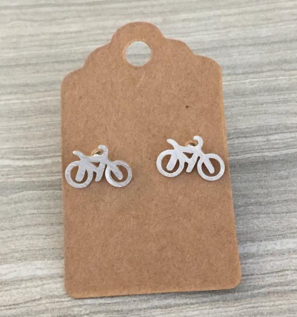 Bike Earrings, $13