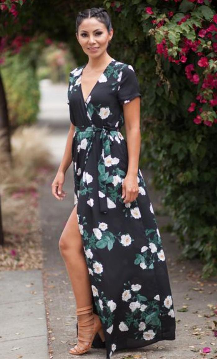 Black Floral Maxi, $68