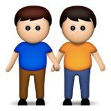 Two Boys Holding Hands Emoji
