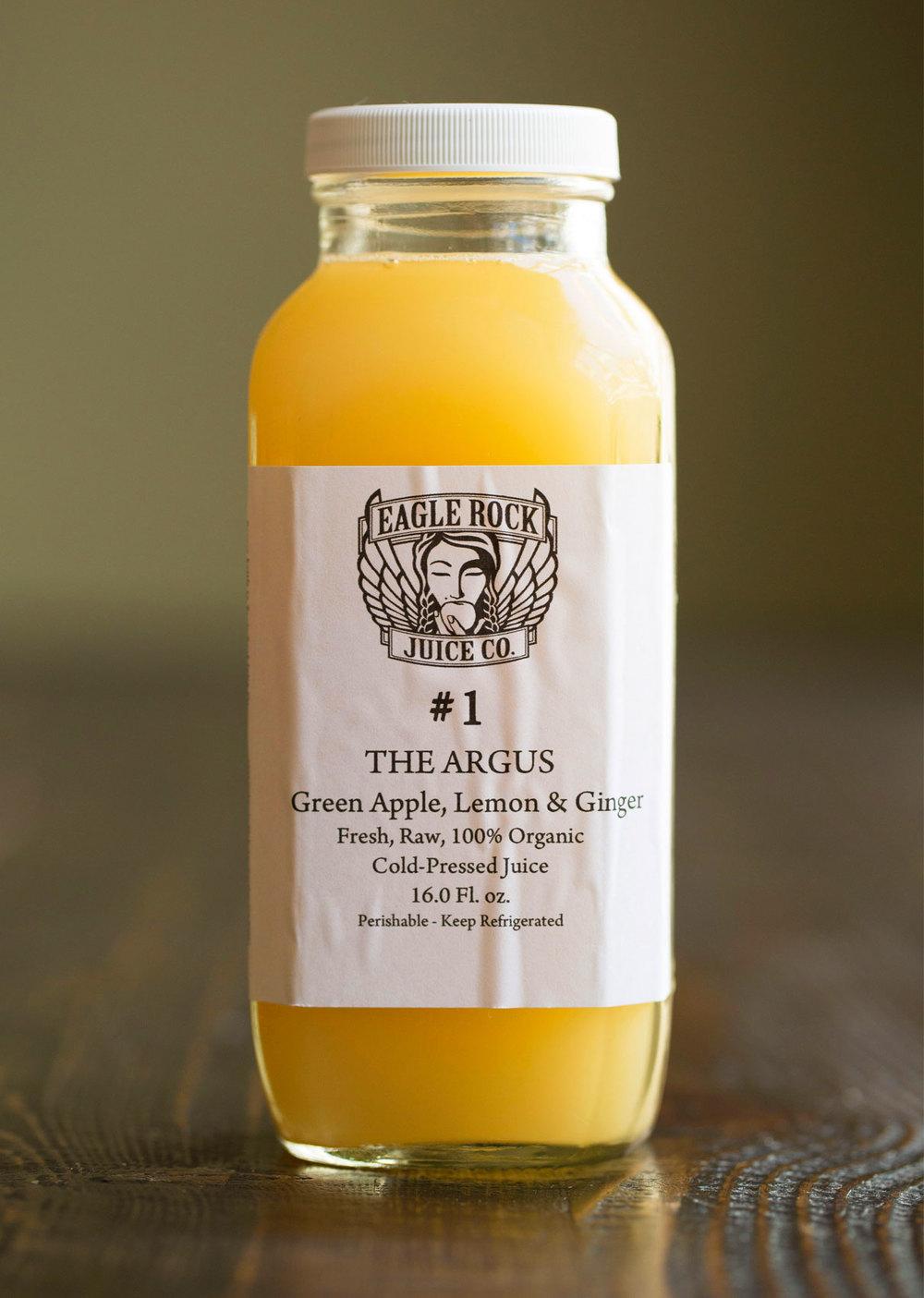 #1 The Argus   $24.00/12.00/10.00 Green Apple, Lemon & Ginger