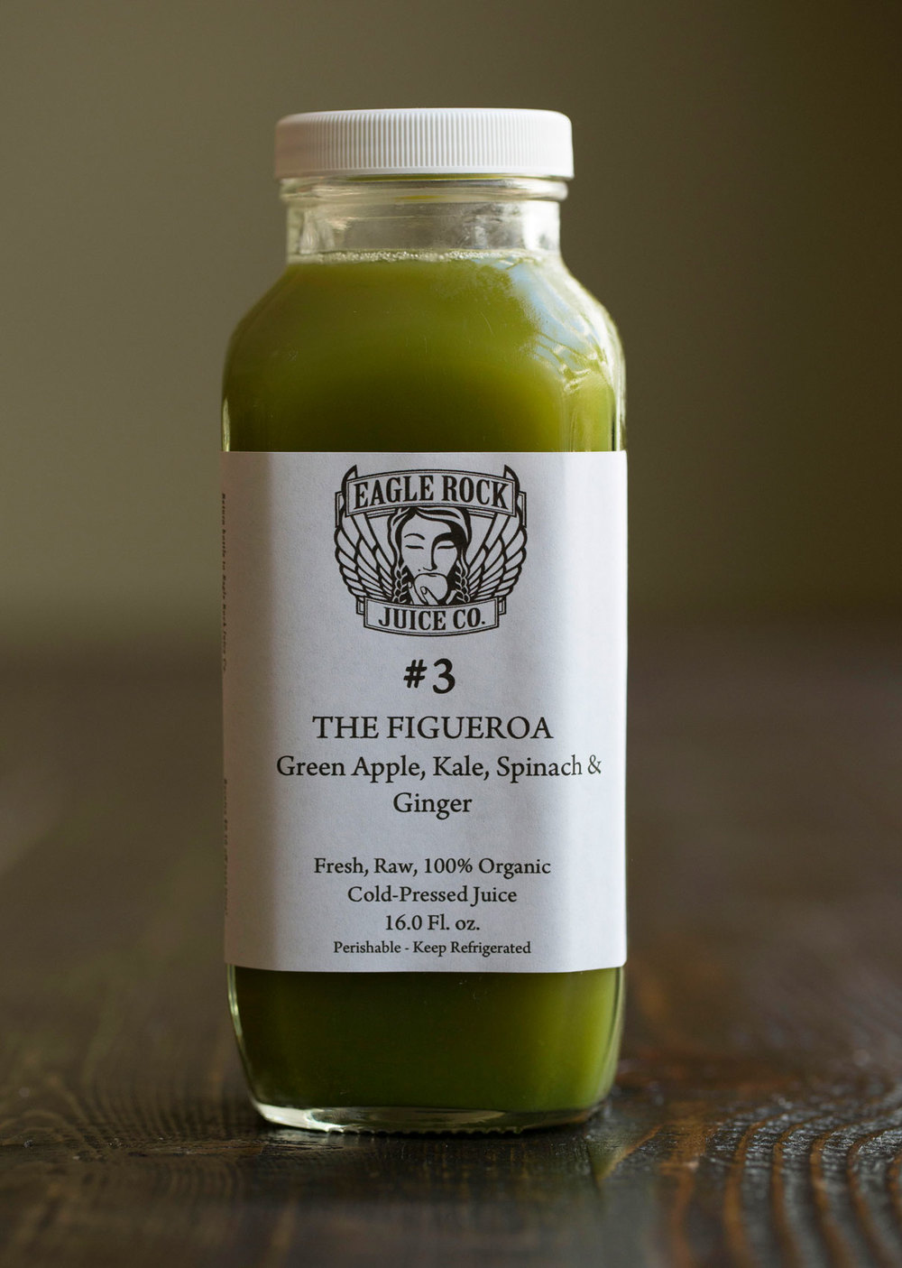 #3 The Figueroa $24.00/12.00/10.00 Green Apple, Kale, Spinach & Ginger