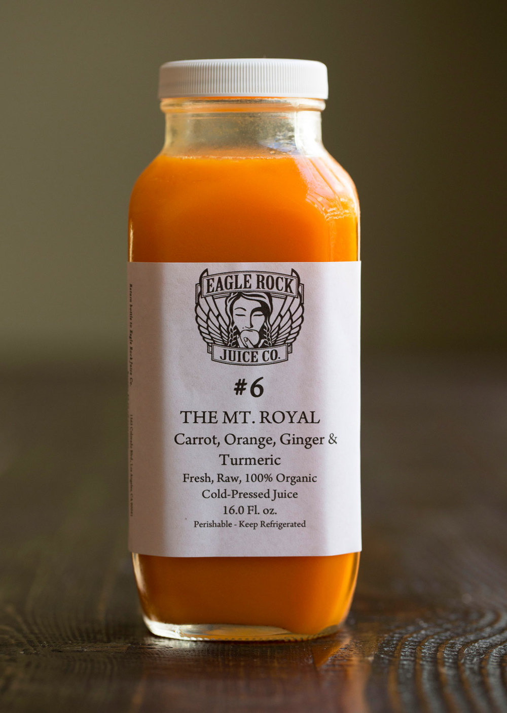 #6 The Mt. Royal $25.00/12.50/10.50   Carrot, Orange, Turmeric & Ginger
