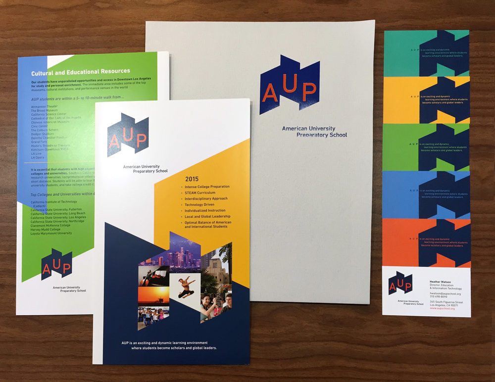Aup briyoko branding for aup american university preparatory school the first university preparatory high school located at the center of downtown los angeles reheart Image collections