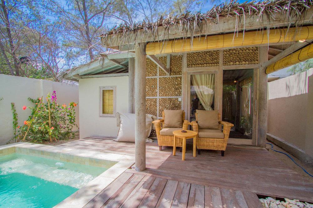 Private bungalow - One room Gili Meno