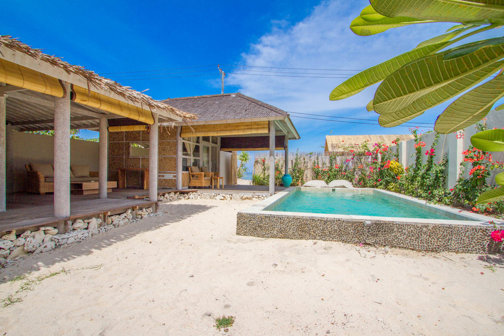 Private garden with pool - 2 BDR - Avia Villa Resort Gili Meno