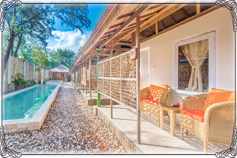 Rent Bungalow in gili Meno avia