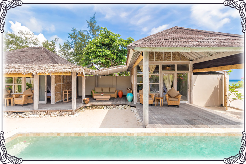 Rent villa 2 bedrooms Gili Meno