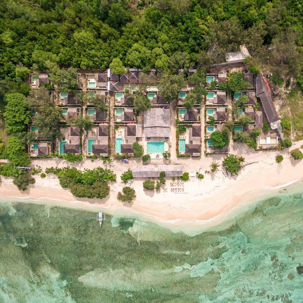 Avia Villa Resort Gili Meno Drone