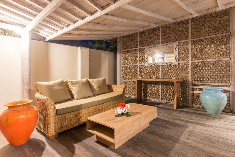 Private living room - Gili Meno