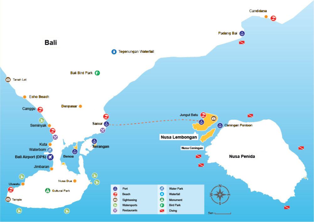 How to go to Nusa lembongan / ceningan bali?
