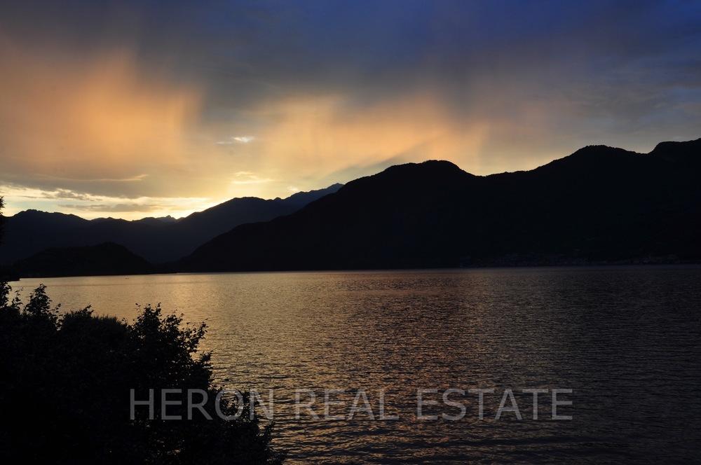 dramatic sky Lake Como