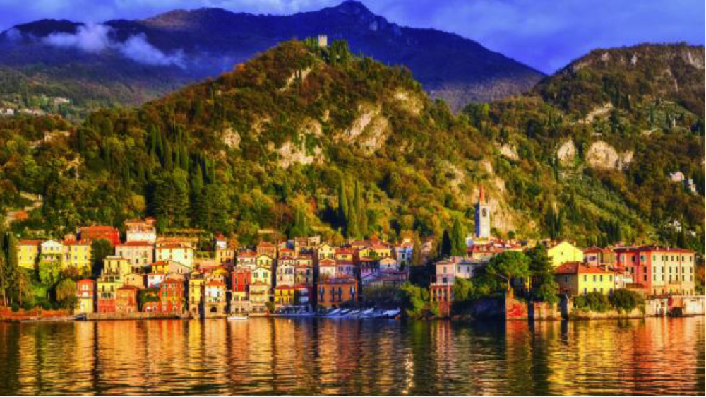 Romantic retreat: the steep terrain and strict planning laws mean lakeside towns such as Menaggio have remained unspoilt.   XANTANA/GETTY IMAGES