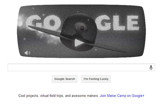 """The """"Google Doodle"""" of July 8, 2013 nods to the 66th anniversary of an unidentified object crash landing on a ranch near Roswell, N.M.    Source: Google - See more at:  http://www.space.com/21875-roswell-ufo-google-doodle.html#sthash.sBHLbU8K.dpuf  (Accessed: 6/1/2016)"""