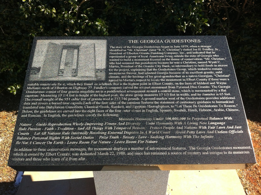Sign at the structure which details it's alleged origins.