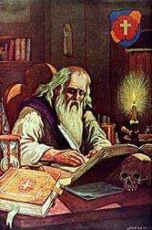 """Christian Rosenkreuz a.k.a.  """"Frater C.R.C.""""  founder of the Rosicrucian Order"""