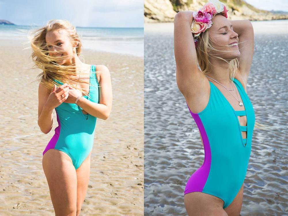 aurora turquoise sporty swimsuit