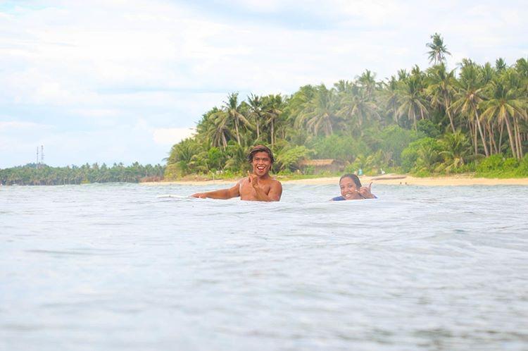 Tuason Point with local surfer Jason (pc Gwilym Thomas)