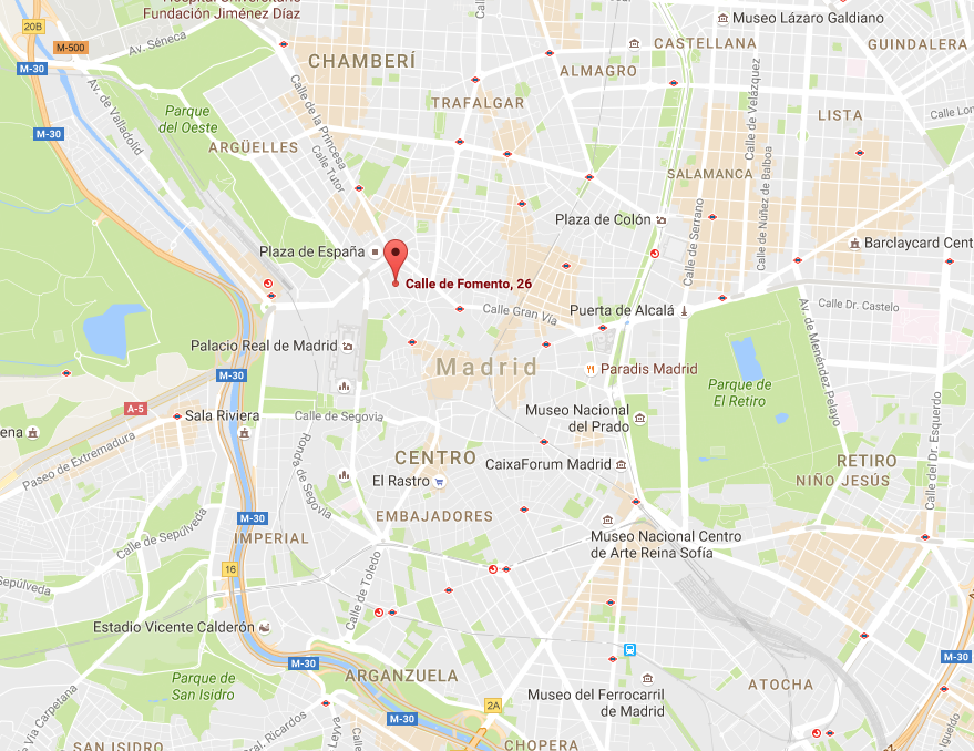 MADRID:   Calle Fomento 26. 28013