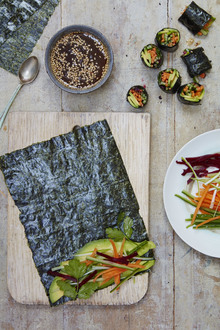 Colourful nori wraps
