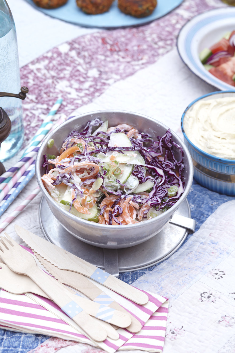 Ginger, chilli and carrot coleslaw