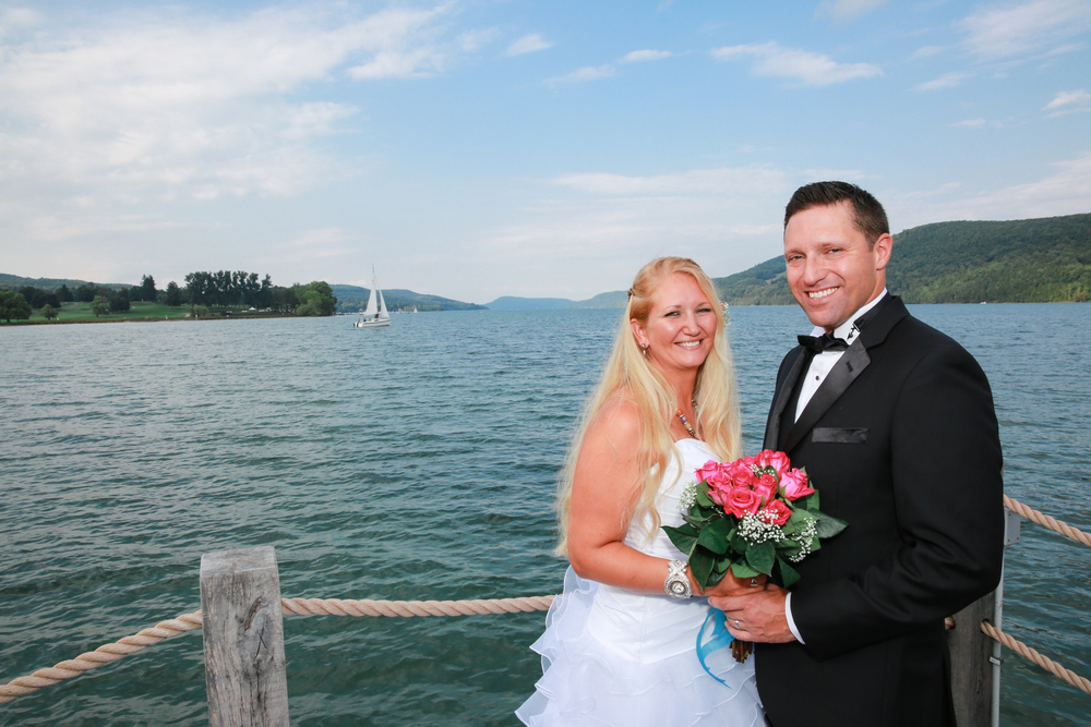 Formal wedding photo in Lake George