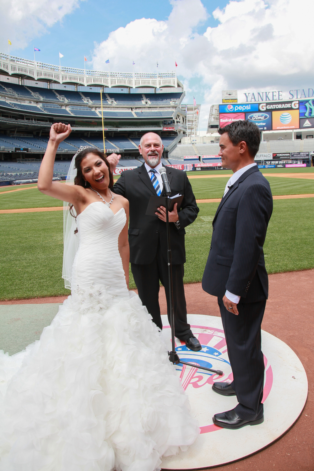 Yankee Stadium Wedding Party