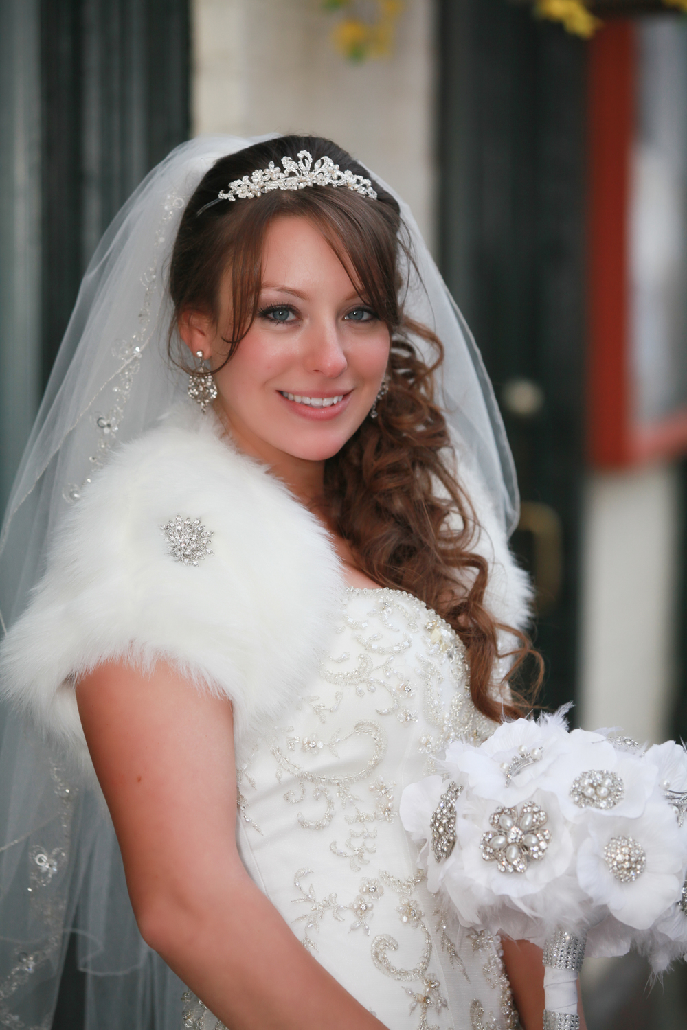 Beautiful bride in downtown Kingston