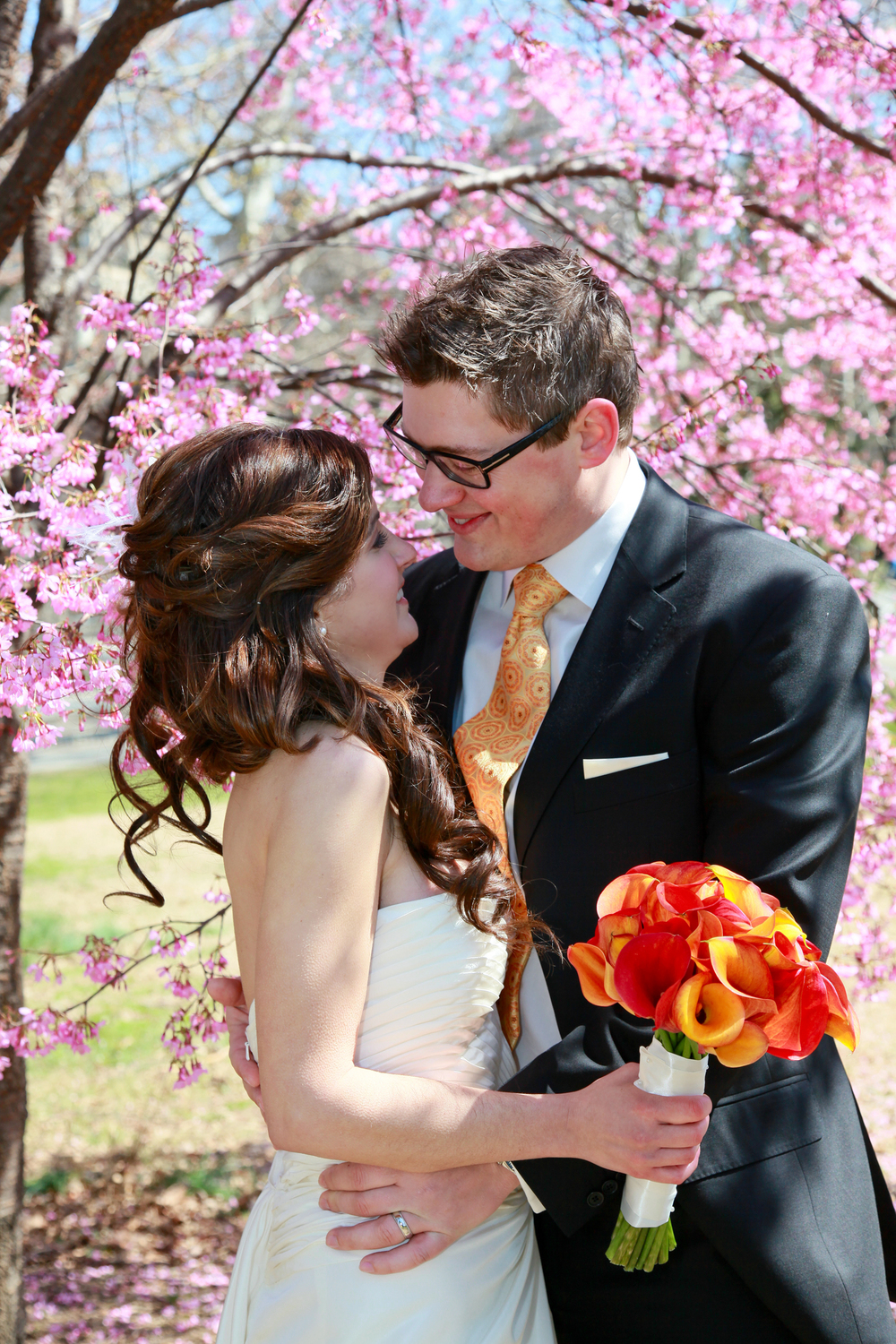 Central Park Wedding in Spring