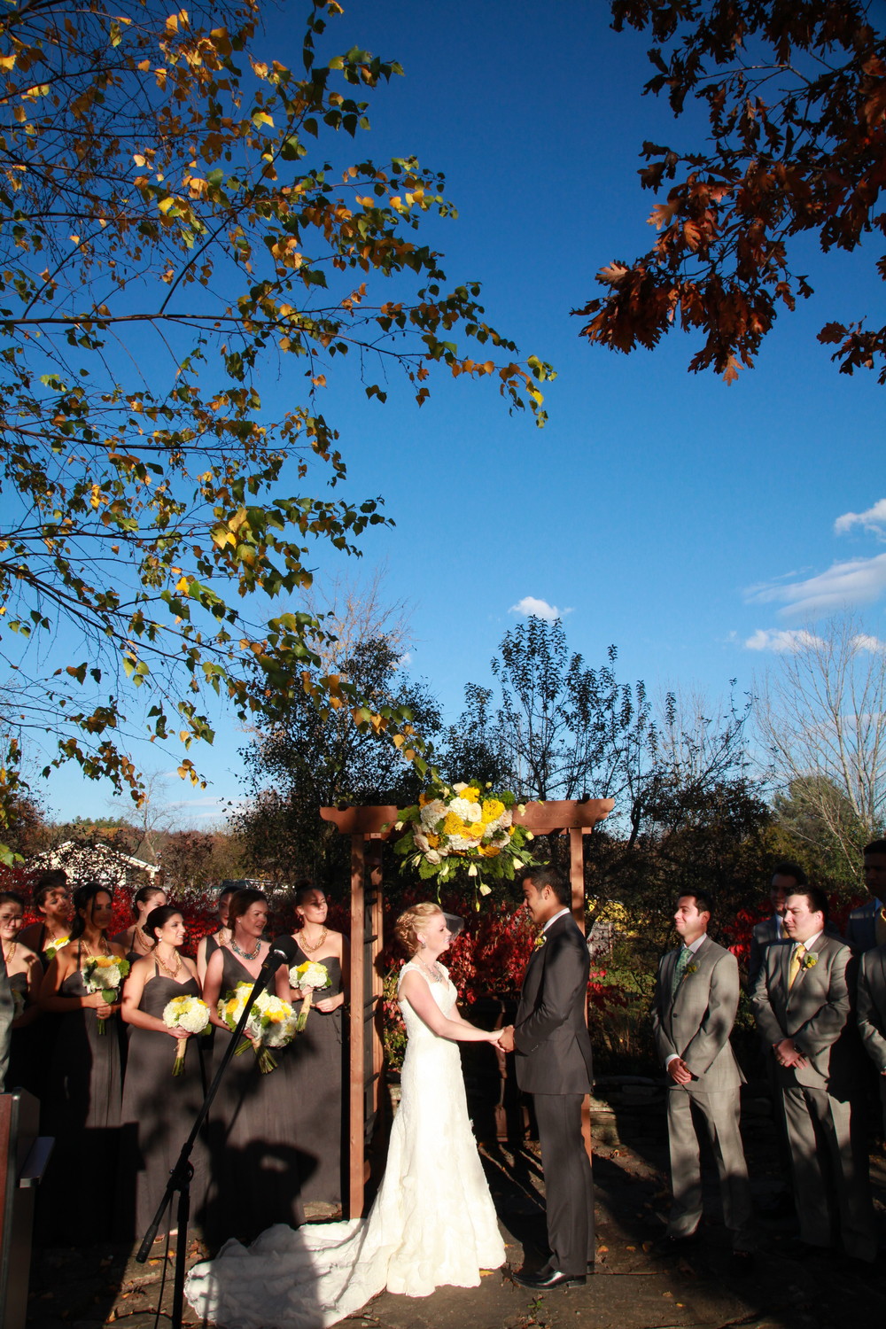 Wedding ceremony near Windham