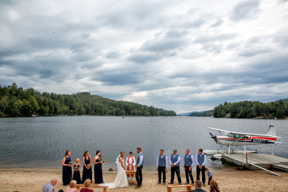 Lake George Wedding Photo at the shore